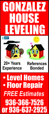 Gonzales House Leveling Ad