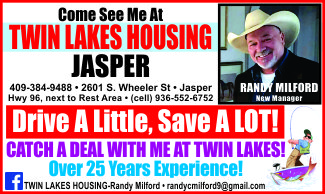 Twin Lakes Housing Ad