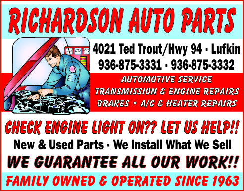 Richardson Auto Parts Ad